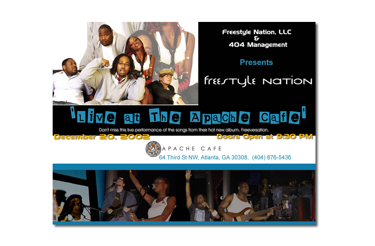 Screenshot of Freestyle Nation Flyer