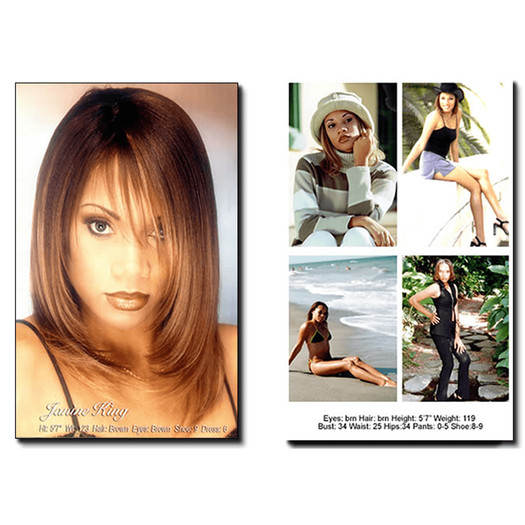 Model Janine King Comp Cards